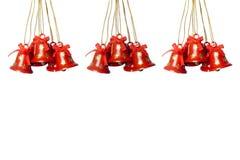 Hanging tinkle bells. Three goups of hanging tinkle bells. horizontal image Royalty Free Stock Image