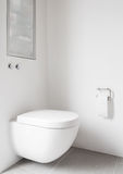 Hanging toilet corner Stock Photography