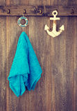 Hanging Towel Stock Photo
