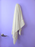 Hanging Towel Blue door Stock Photos