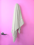 Hanging Towel Maqenta door Stock Photo