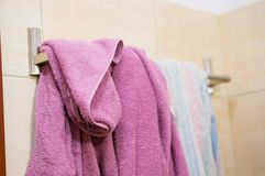 Hanging towels Stock Photography