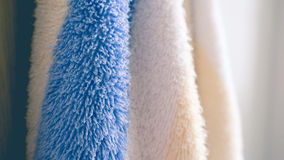 Hanging towels in bathroom. Royalty Free Stock Images