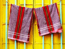 Hanging Towels stock photos