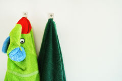 Hanging towels Stock Image