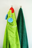 Hanging towels Stock Images