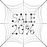 Banner Sale 20 percent discount on web. Hanging uniform Web with the inscription Sale 20 percent Royalty Free Stock Photos