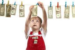 Hanging up dollars Stock Image