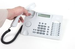 Hanging up the phone Royalty Free Stock Photo