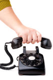 Hanging Up the Phone Stock Images