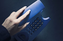 Hanging up the phone Royalty Free Stock Photos