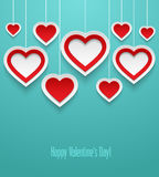Hanging valentines hearts. Royalty Free Stock Photo