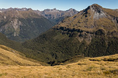 Hanging valley in Fiordland National Park Royalty Free Stock Photography