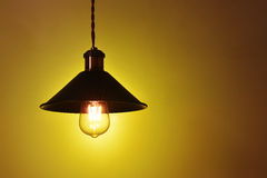 Hanging  vintage electric led lamp Royalty Free Stock Photos