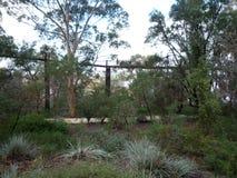 A hanging walking bridge Royalty Free Stock Image