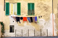 Hanging Washing Royalty Free Stock Images