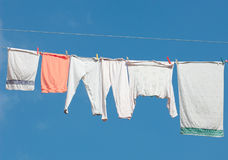 Hanging washing out Stock Photos