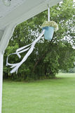Hanging wedding flowers Royalty Free Stock Photography