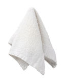 Hanging White Washcloth Royalty Free Stock Photos