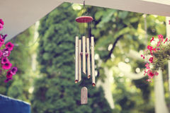 Hanging wind chimes Stock Image
