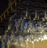 Hanging wineglasses Royalty Free Stock Photo