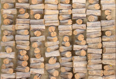 Hanging wood Stock Images