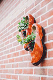 Hanging Wooden Clogs Decor, Netherlands  Royalty Free Stock Photos