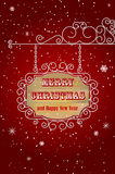 Hanging wooden sign - Merry Christmas Stock Photos