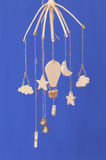 Hanging wooden toys Stock Images