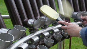 Hanging xylophone stock video footage
