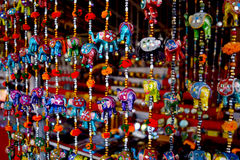 Hangings. Colourfull Home decorative hangings in shop Stock Images