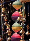 Colorful wall hanging with bells  Stock Photo