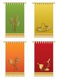 Hangings mexicanos de la pared Imágenes de archivo libres de regalías
