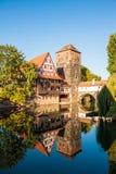 Hangman's Tower (Henkerturm) and half-timbered (fachwerk) hous Royalty Free Stock Images