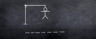 Hangman illustrazione di stock