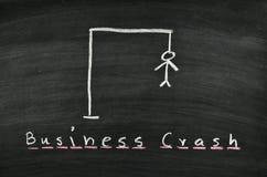 Hangman on blackboard. Hangman and word business crash on blackboard Stock Images