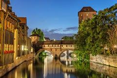The Hangman Bridge (Henkersteg) in Nuremberg. Germany Stock Images
