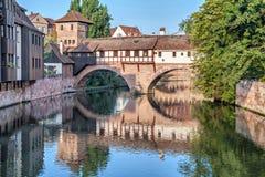 The Hangman Bridge in Nuremberg Royalty Free Stock Photos