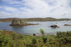 Hangman Island from Bryher, Isles of Scilly, England Royalty Free Stock Photography