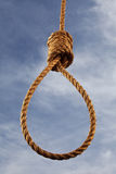 Hangman kluczka z niebem behind Obrazy Royalty Free