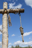 Hangman noose. Hangman's rope hanging from a tree trunk Stock Photography