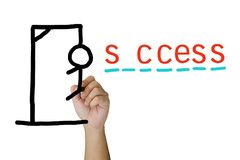 Hangman and success Royalty Free Stock Photo