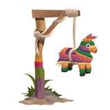 Hangman on a wooden beam with horse toy Stock Photography