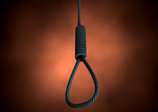 Hangmans Noose Rope Stock Photo