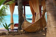 Hangmat bij het strand Stock Fotografie