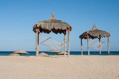 Hangmat bij het strand Royalty-vrije Stock Afbeelding