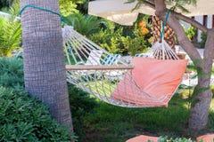 Hangmat in een tuin Royalty-vrije Stock Foto's