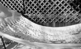 Hangmat en sneeuw stock foto's