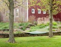 Hangmat in het plaatsen van het land. Royalty-vrije Stock Fotografie
