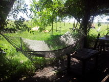 Hangmat. Lovely place for Naptime in Entre Rios, Argentina Stock Photos